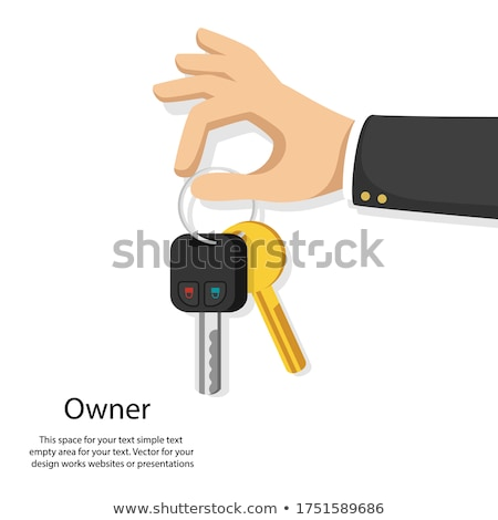 keys on keyring in human hand flat style vector stock photo © robuart
