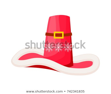 Santa Claus Cowboy Hat with Snowflakes Isolated Stock photo © robuart