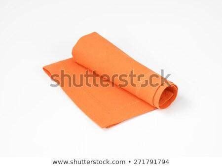 Naranja servilleta blanco limpio textiles Foto stock © Digifoodstock