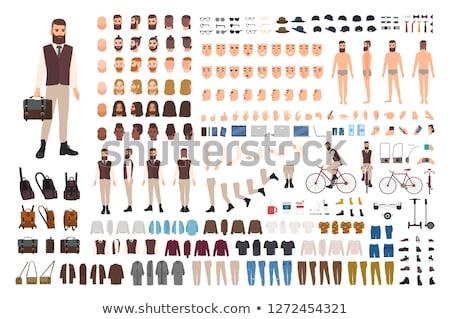 Cartoon Hipster Man Character Vector Constructor Stock photo © robuart