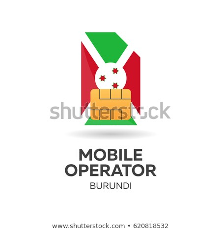 burundi mobile operator sim card with flag vector illustration stock photo © leo_edition
