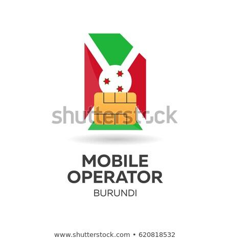 Burundi mobile operator. SIM card with flag. Vector illustration. Stock photo © Leo_Edition
