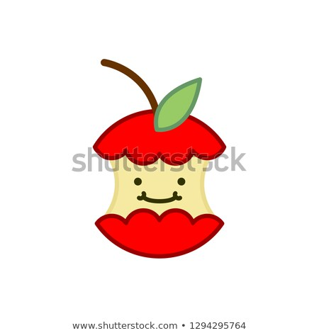 赤 · 全体 · リンゴ · 白 - ストックフォト © popaukropa