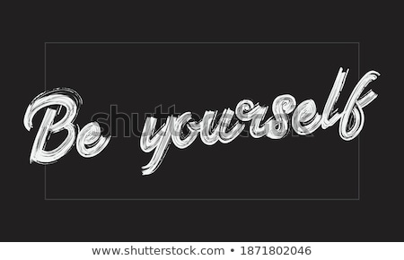 Educate Yourself Handwritten by White Chalk on a Blackboard. Stock photo © tashatuvango