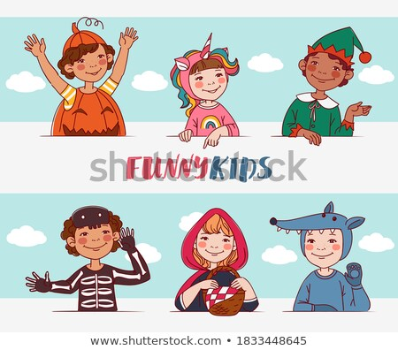 Head Santa Claus multi-ethnic group Stock photo © rogistok