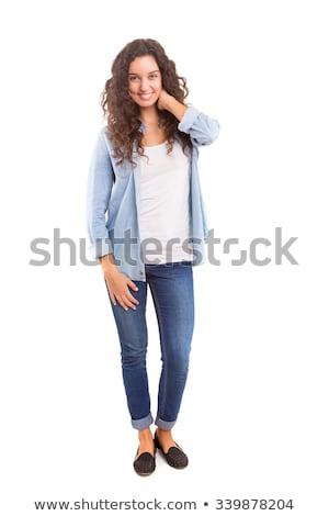 красивой · кавказский · девушки · красивый · парень · позируют - Сток-фото © NeonShot