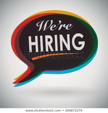 Recruitment Manager Hiring Now. 3D. Stock photo © tashatuvango
