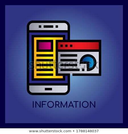 Stockfoto: Apps · ontwerp · doodle · illustratie · Blauw · schoolbord