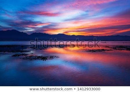 beautiful colorful sunset on a lake stock photo © vapi