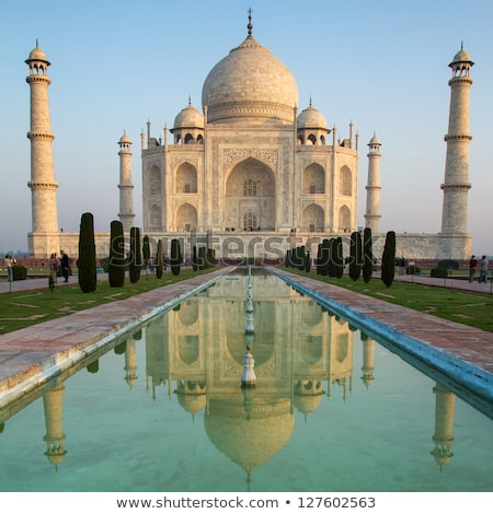 Taj · Mahal · mauzóleum · India · este · idő · fal - stock fotó © akhilesh