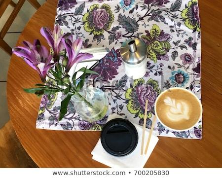 茶 · 明るい · カラフル · 花 - ストックフォト © janpietruszka
