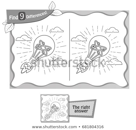 見つける 違い ゲーム 電球 子供 塗り絵の本 ストックフォト © Olena