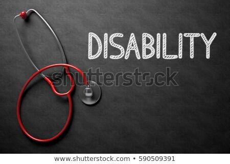 Adaptation For Disabled on Black Chalkboard. 3D Rendering. Stock photo © tashatuvango