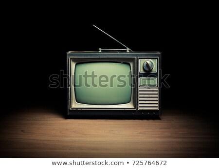 Vintage televisor antena blanco tecnología fondo Foto stock © Nobilior