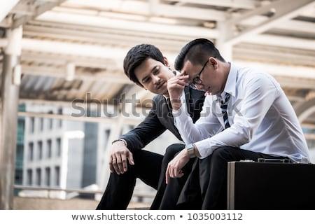 Uomo confortevole depresso amico bar vetro Foto d'archivio © wavebreak_media