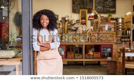 Portre Sunucu giriş kadın eğlence çalışma Stok fotoğraf © IS2