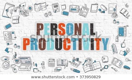 Személyes produktivitás firka terv rajzolt sötét Stock fotó © tashatuvango