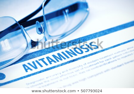 Diagnosis - Avitaminosis. Medicine Concept. 3D Illustration. Stock photo © tashatuvango