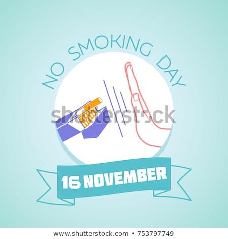 16 dohányozni tilos nap naptár üdvözlőlap ünnep Stock fotó © Olena