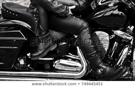 vonzó · pár · park · bőr · boldog · férfi - stock fotó © feverpitch