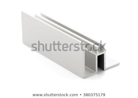 Stockfoto: Aluminium · profiel · monster · geïsoleerd · zwarte · huis