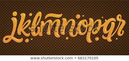 Letter V Chocolate font. sweetness alphabet. Liquid lettering. S Stock photo © MaryValery
