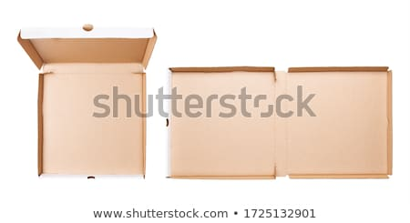 Overhead view of an empty cardboard box Stock photo © IS2