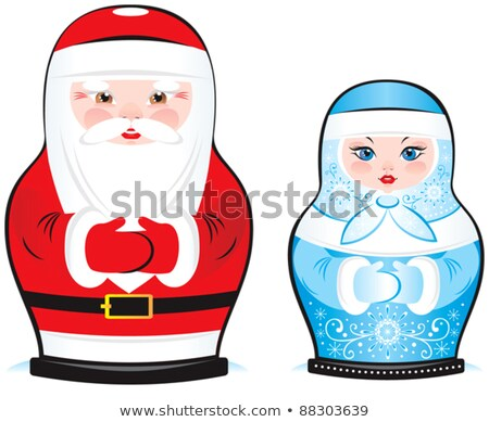 Santa Claus from Russia. Grandfather with beard in blue dress. T Stock photo © popaukropa