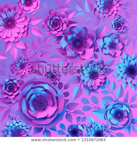 紙 カット 花 紫外線 ベクトル ストックフォト © balasoiu