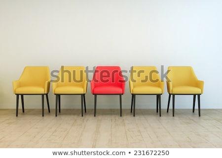 Vacío amarillo silla sala de espera gris pared Foto stock © stevanovicigor
