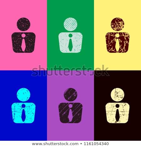 Férfi végtelen minta emberek klasszikus színek irodai dolgozók Stock fotó © popaukropa
