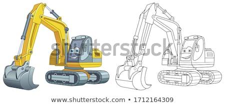 Desenho animado escavadeira construção veículo ilustração trabalhar Foto stock © Krisdog