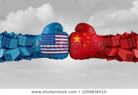 経済の · 貿易 · 戦争 · 中国 · 米国 - ストックフォト © lightsource