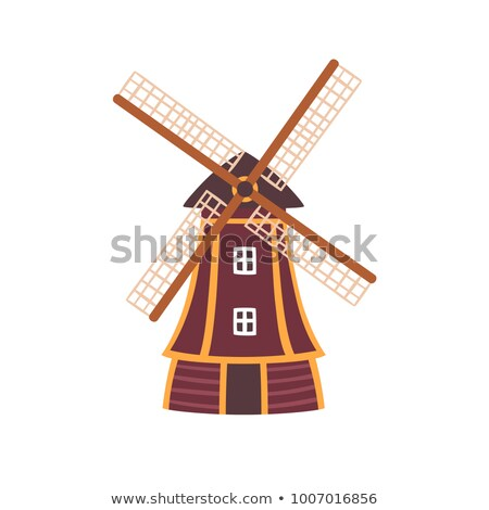 Holland windmill isolated on white icon Stock photo © studioworkstock