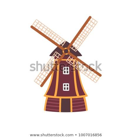 tradicional · Holanda · icono · holandés · paisaje · uno - foto stock © studioworkstock