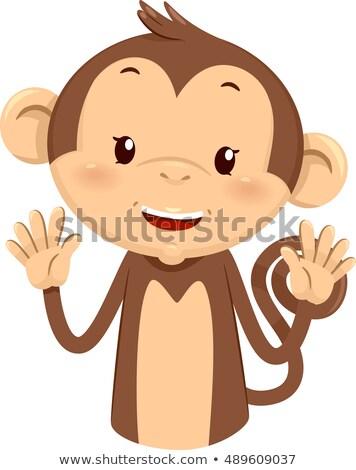 マスコット 猿 10 10 実例 かわいい ストックフォト © lenm