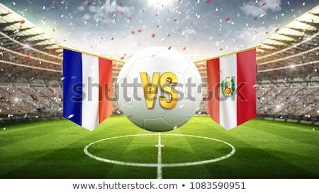 Futebol combinar França vs Peru futebol Foto stock © Zerbor