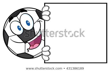 szczęśliwy · piłka · maskotka · cartoon · charakter · powitanie - zdjęcia stock © hittoon