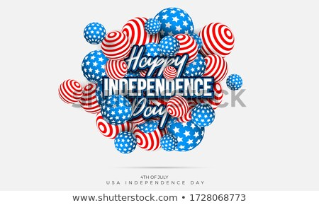 Fourth of July. Independence Day Sale Banner Design with Balloon on Flag Background. USA National Ho Stock photo © articular