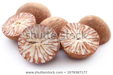 Noix blanche nature fruits fond rouge Photo stock © bdspn