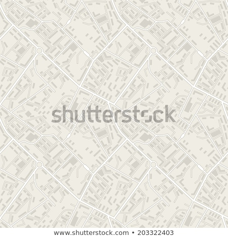 Stockfoto: City Seamless Pattern Place Map Texture Town Background Road