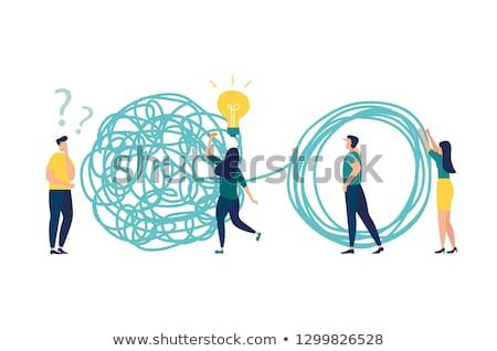 Oplossing vector zakenman probleem succes strategie Stockfoto © pikepicture