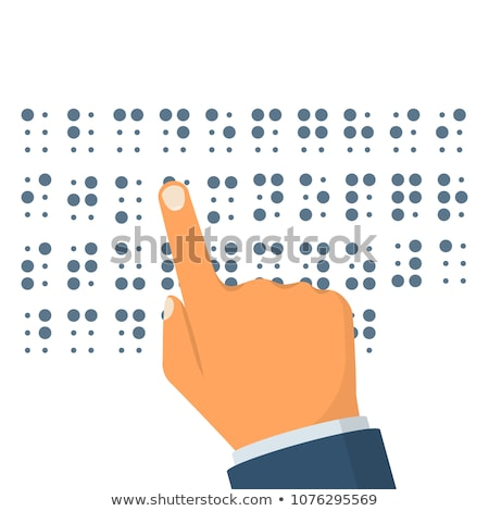 braille alphabet on the white paper stock photo © boggy