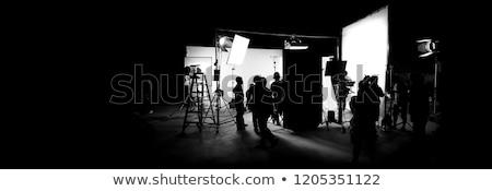 за · видео · производства · съемки · студию · силуэта - Сток-фото © gnepphoto