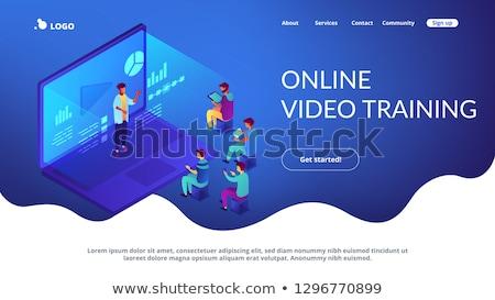 Online webinar app interface template. Stock photo © RAStudio