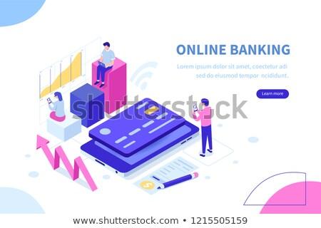 Tarjeta de crédito aplicación interfaz plantilla dólar moneda Foto stock © RAStudio