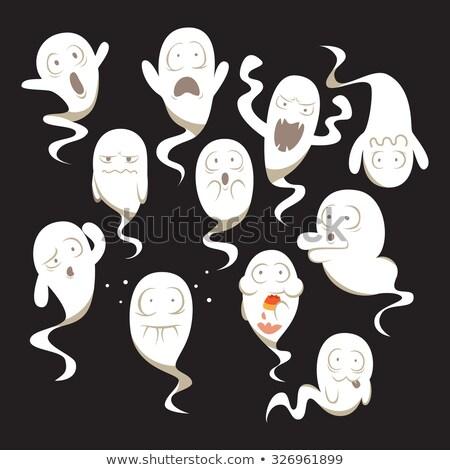 Assustado desenho animado fantasma ilustração olhando gráfico Foto stock © cthoman