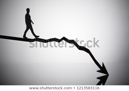 Person Walking On Arrow Moving In Downward Direction Stock photo © AndreyPopov