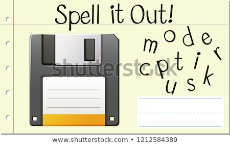 Spell Enlish word computer disk Stock photo © bluering