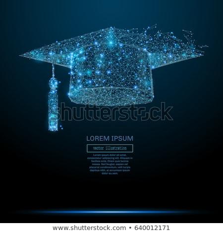 Glückwünsche · Abschluss · Illustration · Schule · Bildung · Pergament - stock foto © djmilic